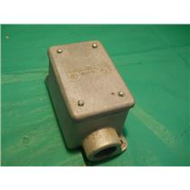 "CROUSE HINDS FDC-3, 1"" OUTLET BOX W/ COVER DS100G FOR HAZARDOUS LOCATIONS"