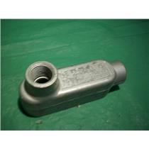 """CROUSE HINDS LB19, (2) 1/2"""" NPT HUB, CONDULET OUTLET BODY"""