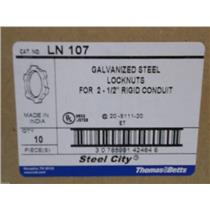 "Thomas and Betts Galvanized Steel Locknuts For 2-1/2"" Rigid Conduit/ Cat# LN107"