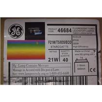 GE Ecolux Starcoat T5 Bulbs F21W/T5/835/ECO  Product Code. 46684 /  1 Case (40)