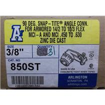 "3/8"" Arlington 90° Snap-Tite Angle Connection / Cat.No. 850ST / Box of 31"