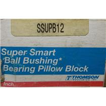 Thomson Super Smart Ball Bushing Bearing Pillow Block / Part No. SSUPB12