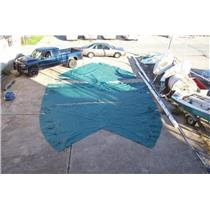 Boaters' Resale Shop of Tx 1311 1427.01 BOAT COVER & WEIGHTS FOR 40 FT. VALIANT