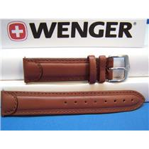 Wenger Watch Band 72780 Brown 20mm Padded Outline Stitched also fits 72900,72917
