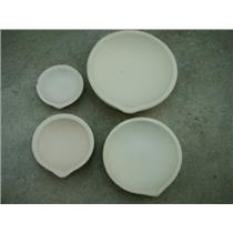 "Set of 4 Crucible Silica Dishes 4-1/8"",3-1/2"",2-5/8""& 2-1/8""-Gold-Melting-Silver"