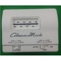 Coleman 7330G3351 Analog White Wall Thermostat Heat Cool