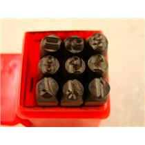 "1/4""  6MM  9 Number Punch Stamp Set  Metal-Steel-Hand-Serial#-Trailer-Tool"