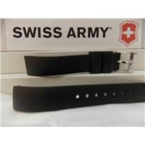 Swiss Army Watch Band Alliance 24664 Ladies Black Rubber 15mm Curved End Strap