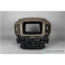 1999-2003 Lexus RX300 Radio Climate Dash Trim Bezel For Automatic AC Controls