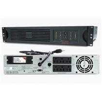 APC SUA750RM2U 750VA 480W 2U RACKMOUNT BATTERY POWER BACKUP SMART-UPS, NEW BATT.