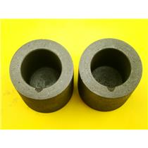 """Lot of 2 Graphite 10 oz Crucibles for Melting Gold-Silver-1-3/4"""" W x 1-3/4"""" Tall"""