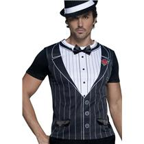 Fever Male Gangster Suit Tuxedo Costume Shirt Size Medium