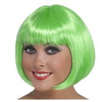 Green Irish Bob Wig with Bangs St Patricks Day