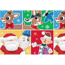 Rudolph the Red Nosed Reindeer Christmas Wrapping Paper Roll 40 Sq Ft  #W14-4112