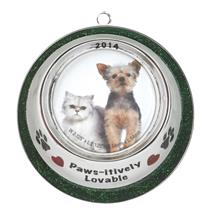 American Greetings Carlton Ornament 2014 Pet Bowl Frame Photo Holder - #CXOR024F