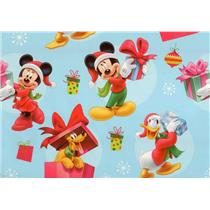 Disney's Mickey Mouse, Pluto & Donald Christmas Gift Wrap Roll 40 Sq Ft W14-4103