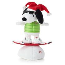 Hallmark Christmas 2014 Snowboarding Snoopy Peanuts Techno Plush - #XKT1447