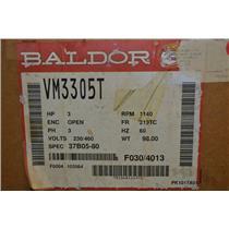 BALDOR VM3305T 3HP AC MOTOR, 1140 RPM, 230/460VAC, 213TC