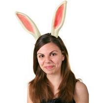 Rigid Plastic Easter Bunny Rabbit Costume Ears