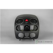 2008 Volkswagon Beetle Radio Climate Dash Trim Bezel with Vents and Hazard