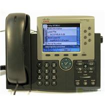 CISCO CP-7965G VoIP PHONE COLOR TFT Pixelated Display Damaged Screen 7965-D8FA