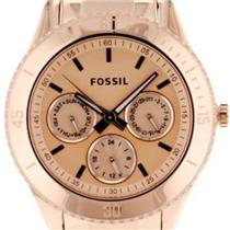 Fossil ES2859 Stella. Rose Gold Plated Stainless Steel Band/Dial