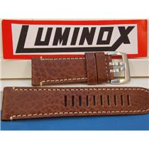 Luminox Watchband Series 1860 Brown Buffalo Leather w/White Stitching 26mm Strap