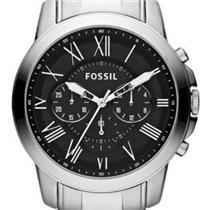 "Fossil FS4736. ""Grant"". Classic Appeal. Chronograph. Calendar.Roman Numerals.Black Dial.Stainless St"