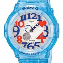 Casio BGA131-2B Baby G. UV-LED Neon Illuminator. Stopwatch. Countdown timer. White Dial. Blue Strap.