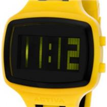 Activa AA400-005 by Invicta.50% Off.Digital.Sporty Retangle Black Dial.Polyurethane Yellow Strap w/B