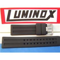 Luminox Watch Band 8050 8150 8250 850 Navy Seals 22mm Blk Rub w/Steel Logo Bkl