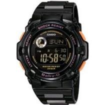 Casio BG-3000A-1DR. Baby-G Ladies Reef Series. Shock Resist. Countdown Timer. 200m Resist.