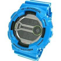 Casio G-Shock GD110-2CR. XL Super LED. Lap M60. 200M Resist. Blue Bezel/Band.