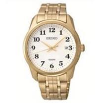 Seiko Men's SGEG16. Gold Tone Stainless Steel Case/Bracelet. Easy Read White/Black Dial Quartz Watch