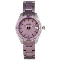 Fossil Women's ES3046. Stella Mini.Stainless Watch. Purple Bracelet. Purple Dial.