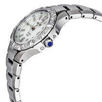 Seiko Women's SXDC33. Diamond Seiko Coutura. Sapphire Crystal and Cabochon Black Stone Crown. Silver