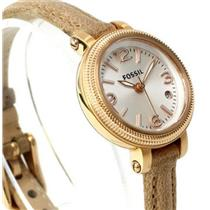 Fossil ES3139.Ladies Heather Mini.White Dial.Three Hand.Cream Leather Strap.50m Resist.