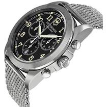 Victorinox Swiss Army 241589.Infantry Chronograph.Black Dial.Stainless Steel Mesh Bracelet.100m Resi