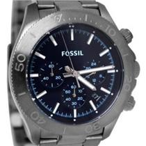 Fossil CH2896 Retro Collection. Stopwatch Chronograph. Calendar. Luminous Markers. Blue Dial. Stainl