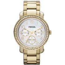 Fossil Women's ES2968. Gold Stainless-Steel Analog Quartz Watch. with Mother-Of-Pearl Dial.