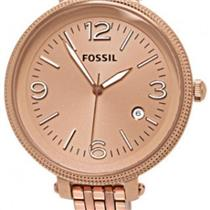 Fossil ES3130. Stainless Steel Heather Rose Gold Dial-Bezel-Case-Bracelet.50m Resist.