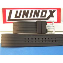 Luminox Watch Band Black Rubber Strap for Tony Kanaan Series of Watches