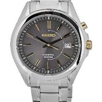 Seiko Men's SKA527. Kinetic Powered/Autoquartz/Batteryless. Silver Tone Stainless Steel Bracelet/Cas