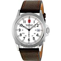 Victorinox Swiss Army Infantry Men's 24654.Dress Watch.Swiss Movement,Brn Leather Strap,Steel case,1