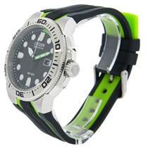 Citizen Men's BN0090-01E. Solar Powered Eco-Drive Scuba Fin Diver's Watch. Polyurethane Black- Green