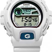 Casio G-Shock GLX6900-7CR. G-Lide Series. Tide Graph. Digital Blue Dial. White Resin Strap.