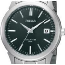Pulsar PXH895. All Titanium Band/Case w/Steel Accents. 50m Water Resistant.