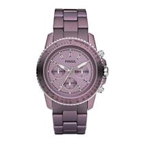 Fossil Women's CH2747. Stella Chronograph. Purple Dial Purple Bracelet. Quartz Watch.