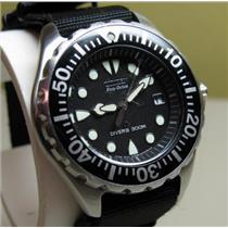 Citizen BN0000-04H. Eco-Drive. Professional Diver. Quartz.Black Dial.Black Rubber Strap.300M Resist.