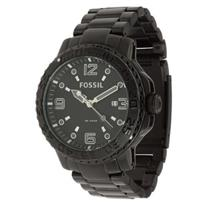 Fossil Men's AM4318. Black Dial Black Ion Plated Stainless Steel Bracelet. 100m Water Resist